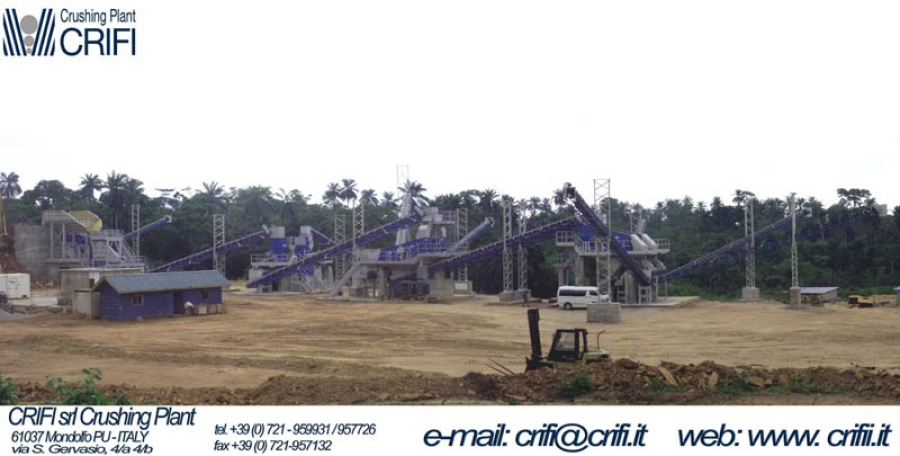 Fixed crushing installation 400 T/h - NIGERIA
